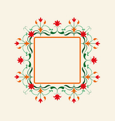 Floral border decorative frame elegant vector