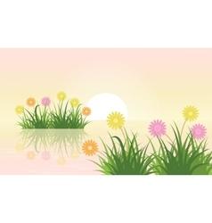 Flower landscape vector