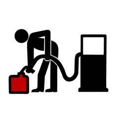 gas station symbol vector image