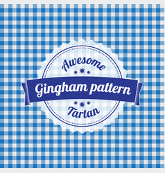 Gingham pattern checkered seamless background vector