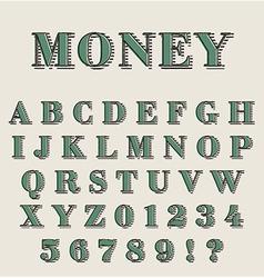 Graphic retro alphabet vector image vector image