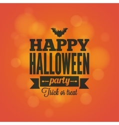 Halloween holiday card design background vector