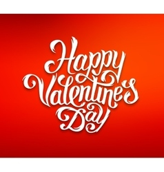 Happy Valentines Day text typography greetings vector image