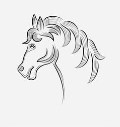 Horse head sketch vector