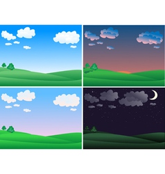 landscape time vector image vector image