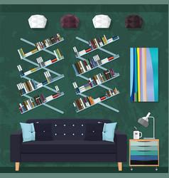living room decor vector image