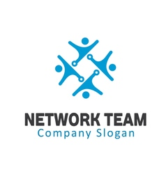 Network team design vector