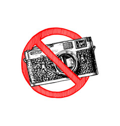 No photos sign vector