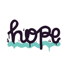 Poster lettering hope vector