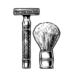 Shaving accessories vector