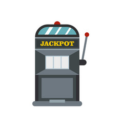 Slot machine icon flat style vector