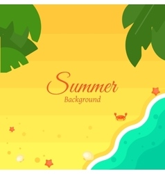 Summer beach background in flat design vector