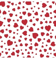 Red hearts seamless pattern good for textile and vector