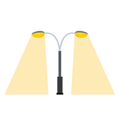 Street lamp silhouette retro metal object vector