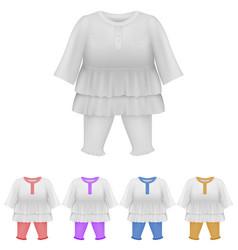 Baby bodysuit dress blank template vector