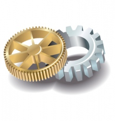 Two gears vector