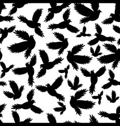 Holy birds dove seamless pattern vector