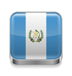 Metal icon of guatemala vector
