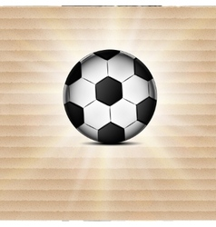 Soccer ball icon flat design blurry light effects vector