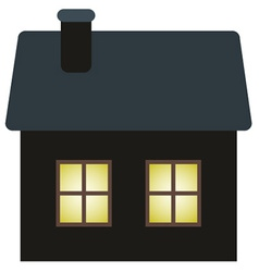 Dark cottage vector