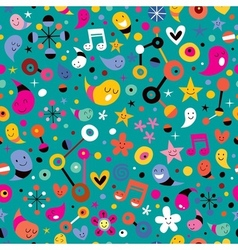 Fun pattern 2 vector
