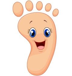 Cartoon happy smile foot vector image