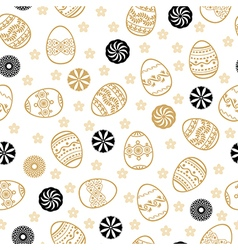 Easter golden pattern vector