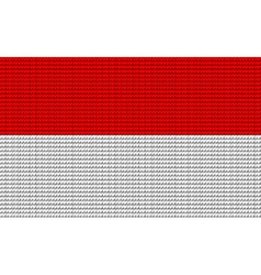 Indonesia flag embroidery design pattern vector