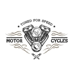 Custom motor in vintage style vector