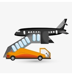 Airport design editable vector