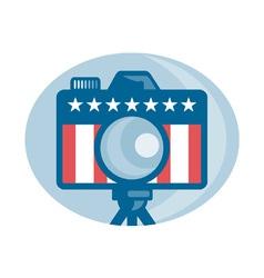 American dslr camera vector