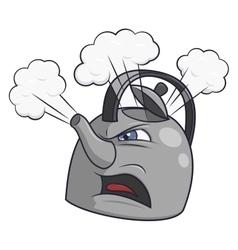 Angry tea kettle 2 vector image
