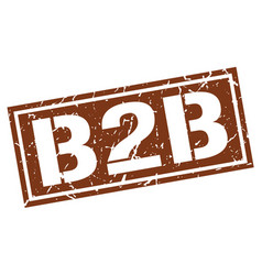 B2b square grunge stamp vector