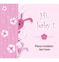 Baby shower - girl vector image vector image