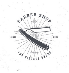 barber shop razor vector image
