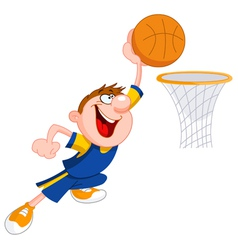 basketball kid vector image vector image