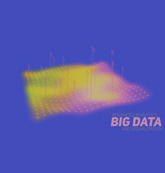 Big data plot colorful visualization vector