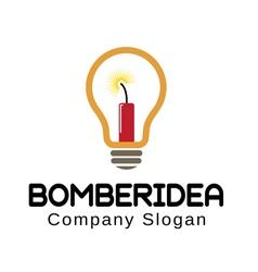 Bomber idea logo vector