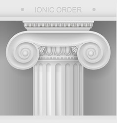 Capital of ionic column vector