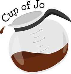 Cup of jo vector