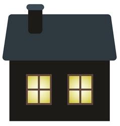 Dark cottage vector