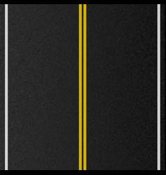 design of empty urban road marking road asphalt vector image
