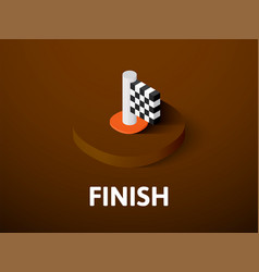 finish isometric icon isolated on color vector image