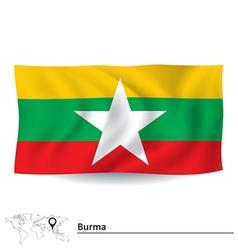 Flag of burma vector