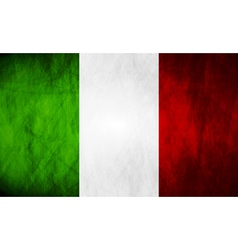 Grunge italian flag vector
