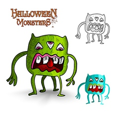 Halloween monsters four legs freak eps10 file vector