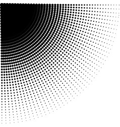 Intensive diminishing halftone dots vector