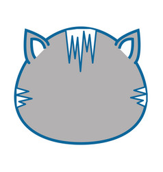 isolated cute cat face vector image vector image