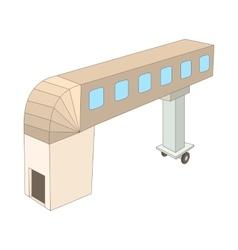 Jet bridge icon cartoon style vector