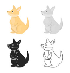 Kangaroo icon cartoon singe animal icon from the vector